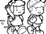 African American Kids Coloring Page