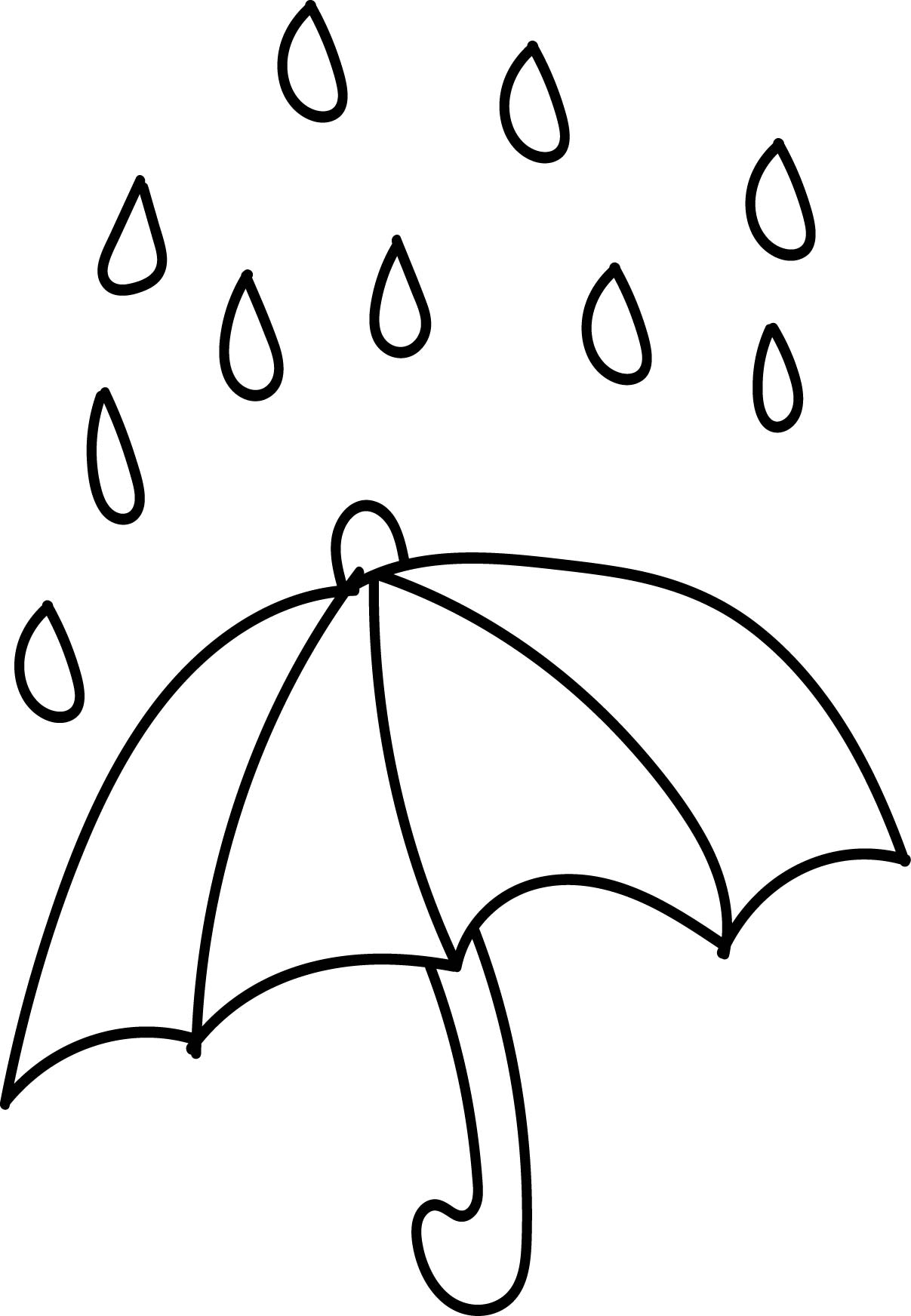 Colouring pages rain - Aftershock Spring Rain Umbrella Free April Coloring Page