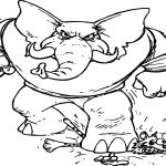 Alabama Football Angry Elephant Coloring Page