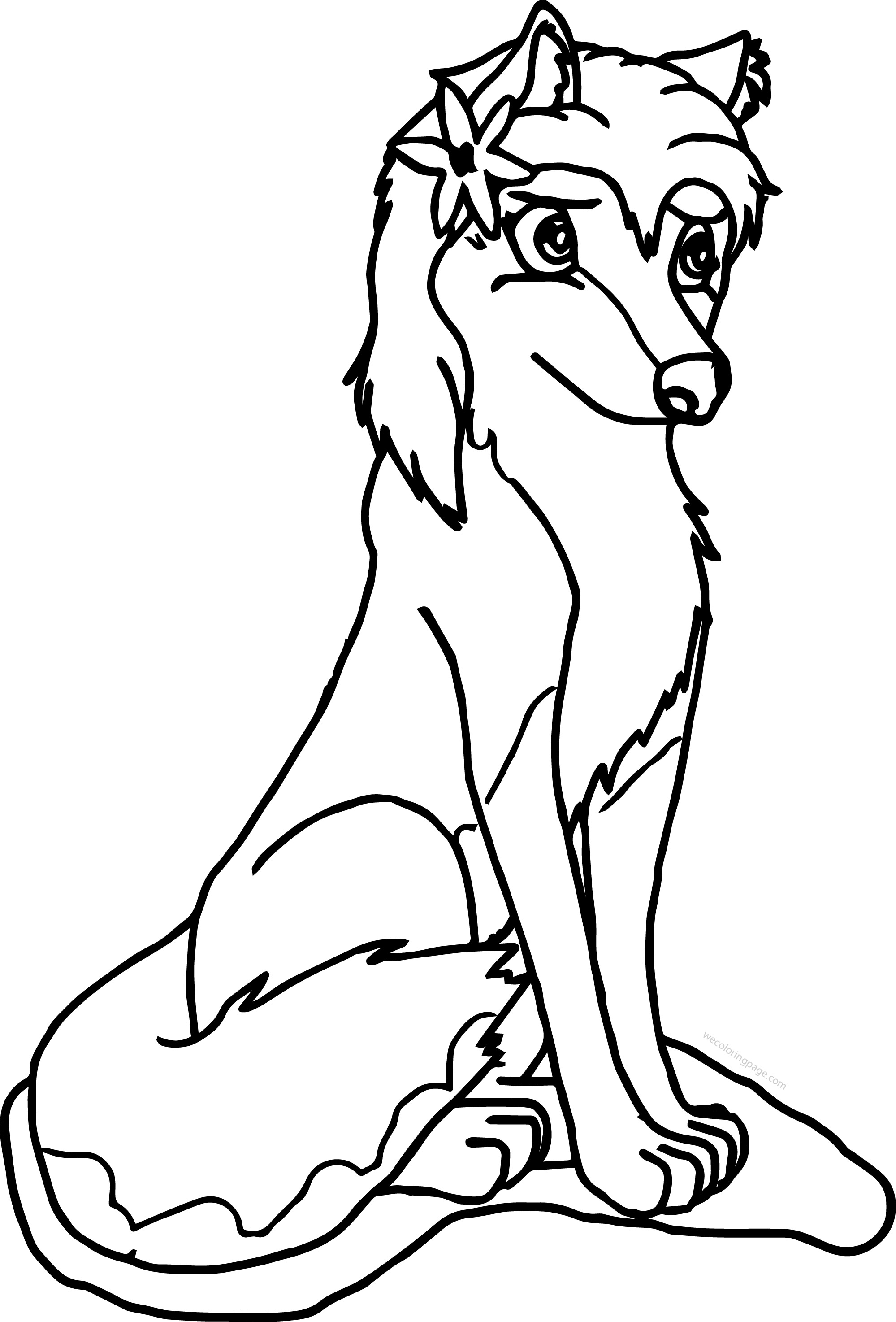 Aleu Alpha And Omega Wolf Coloring Page With Wolf Color Pages Alpha And Omega Coloring Pages To Print