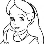 Alice Face Coloring Page