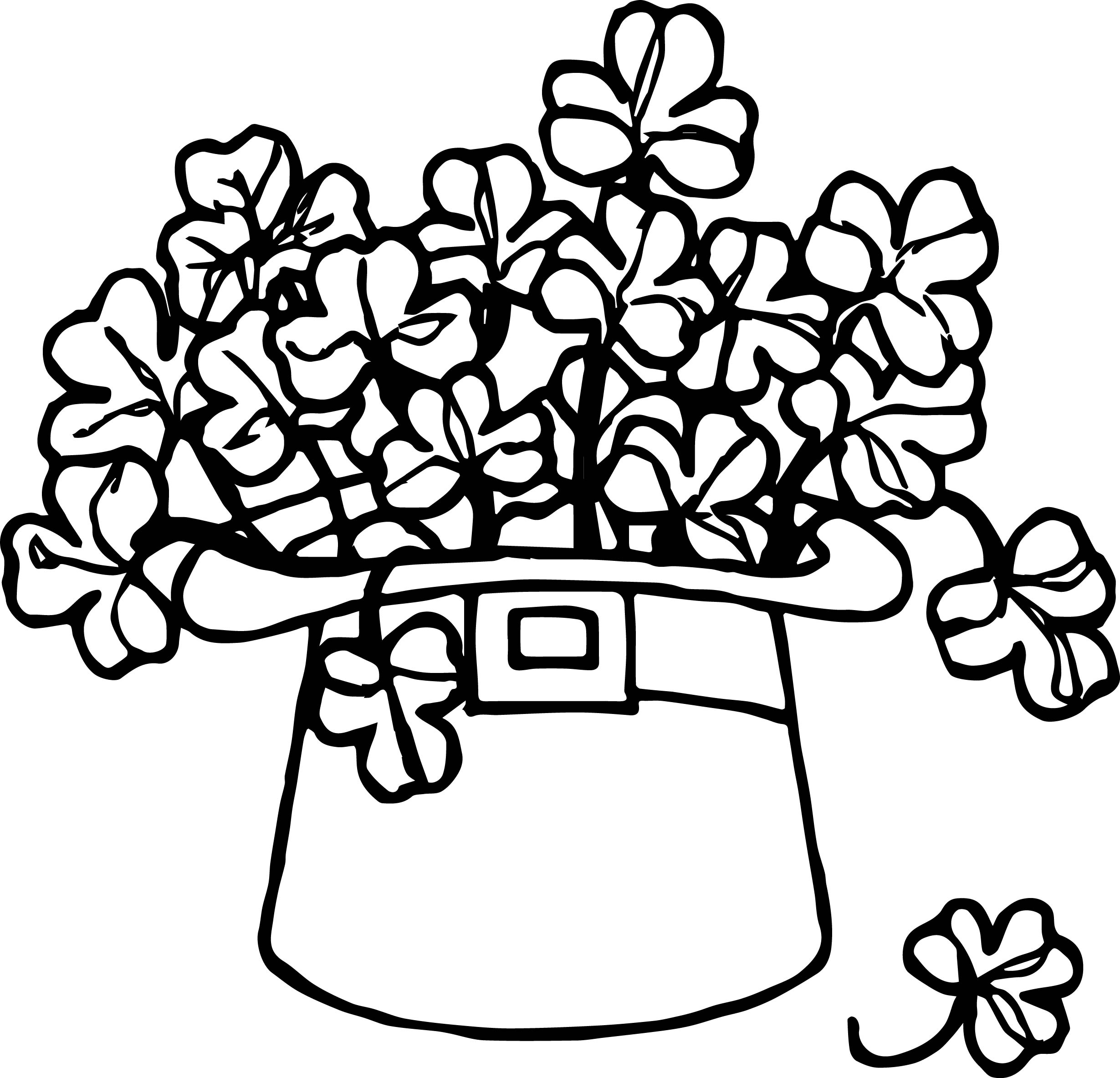 All Saint Day Hat Flower Coloring Page