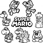 All Super Mario Coloring Page
