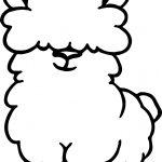 Alpaca Cute Coloring Page