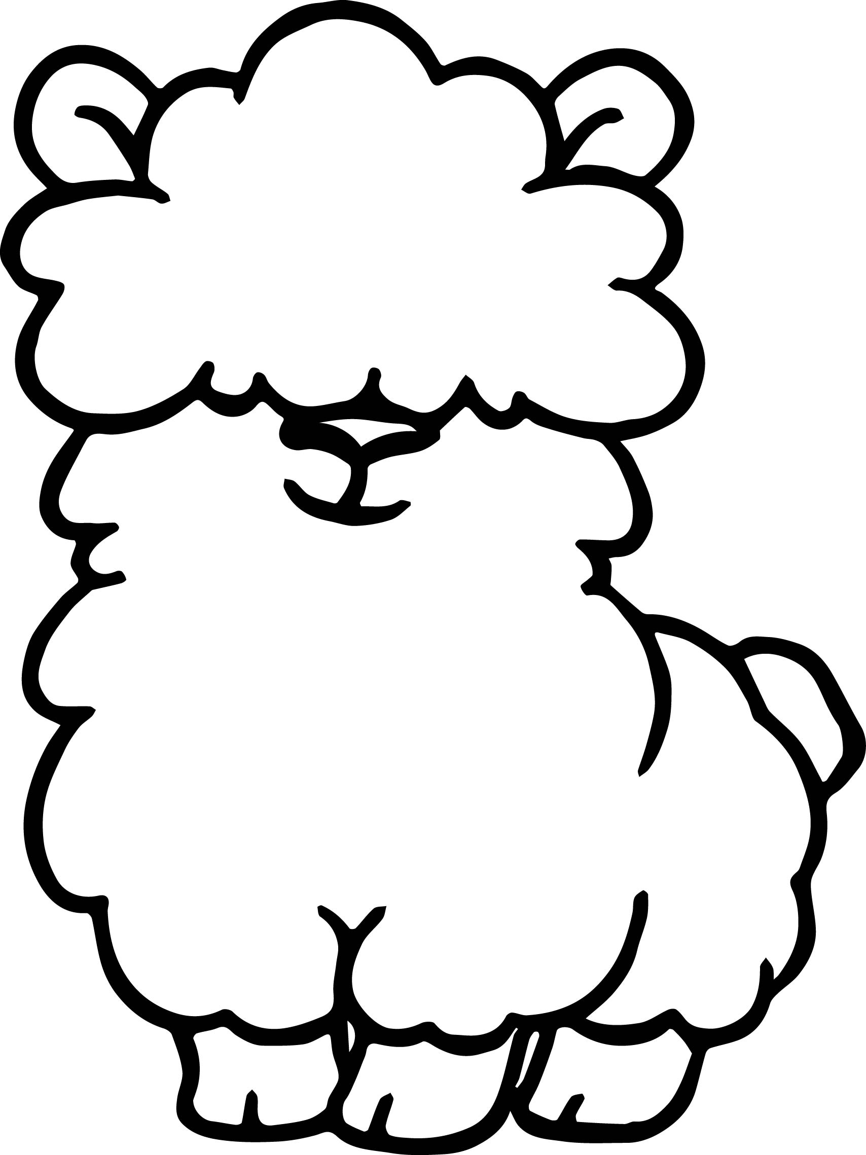 Alpaca Cute Coloring Page