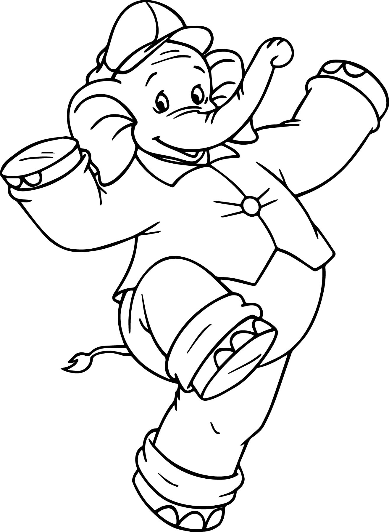 Amazing Elephant Coloring Page