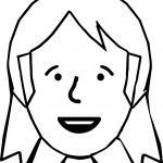 Amelia Bedelia Basic Face Coloring Page