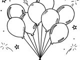 Amusement Balloon Coloring Page