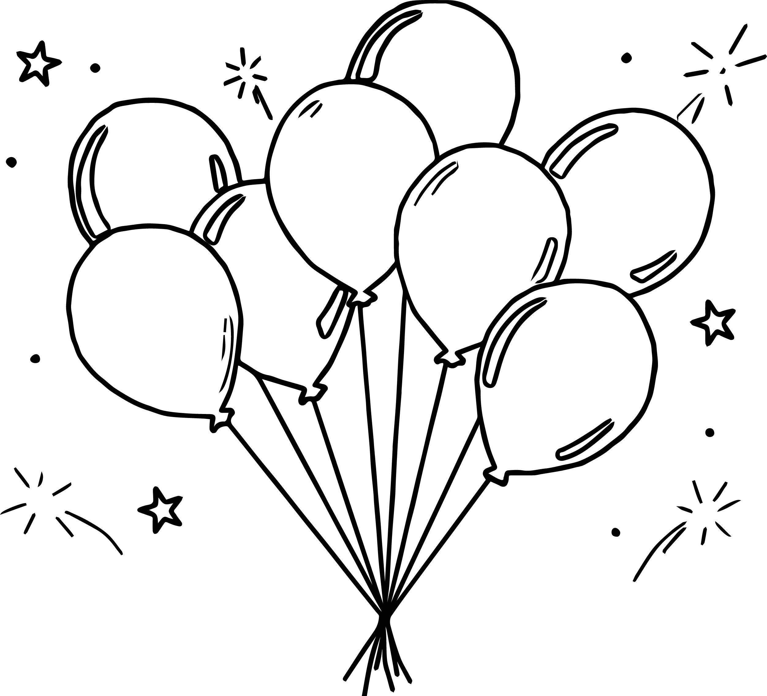 Amusement Balloon Coloring Page