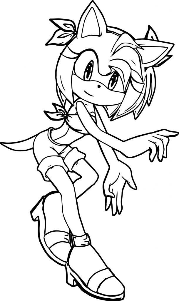 Amy Rose Coloring Page | Wecoloringpage.com