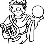 Ancient Rome Holding Sphere Coloring Page
