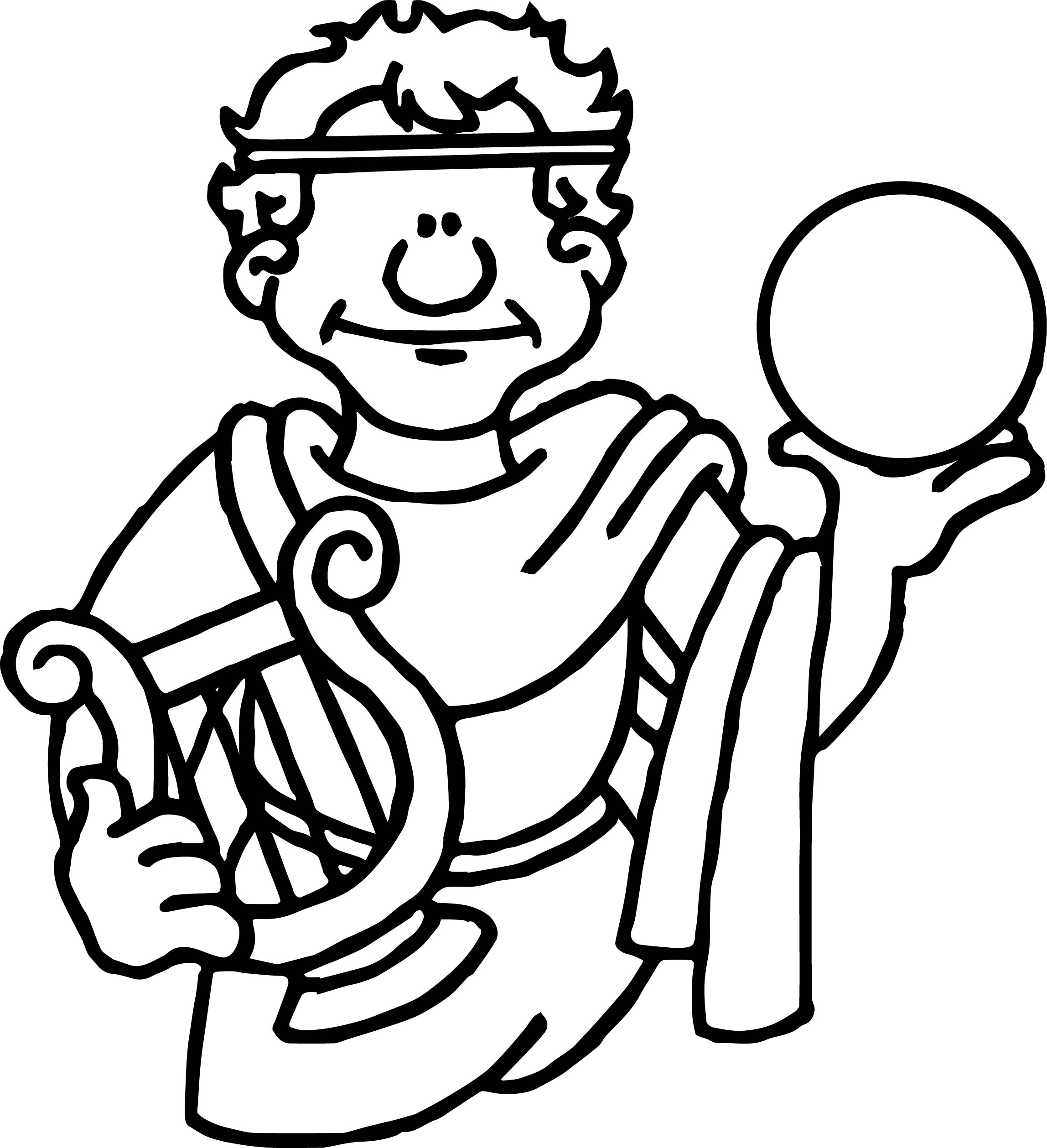 ancient roman coloring pages | Ancient Rome Holding Sphere Coloring Page | Wecoloringpage.com