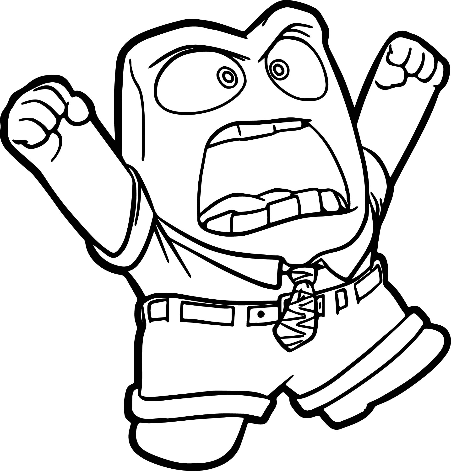 Anger No Coloring Pages