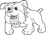 Angry Dog Cartoon Puppy Coloring Page