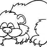 Animal Bear Hibernation Free Coloring Page