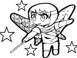 Anime Chibi Magic Girl Coloring Page