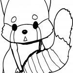 Anime Fox Coloring Page