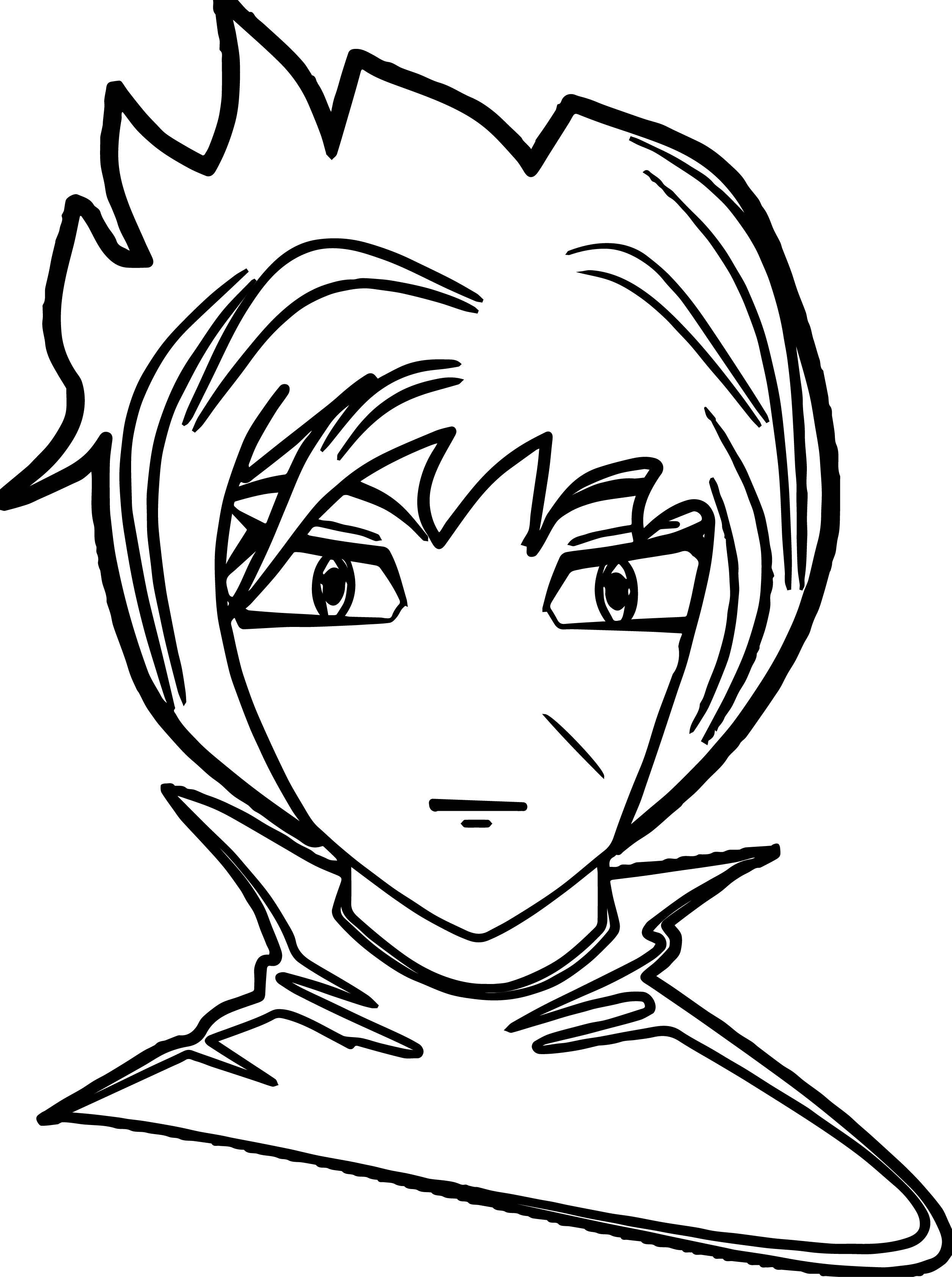 Anime man face coloring page for Man coloring page