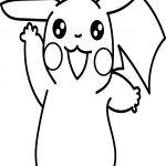 Anime Pikachu Coloring Page