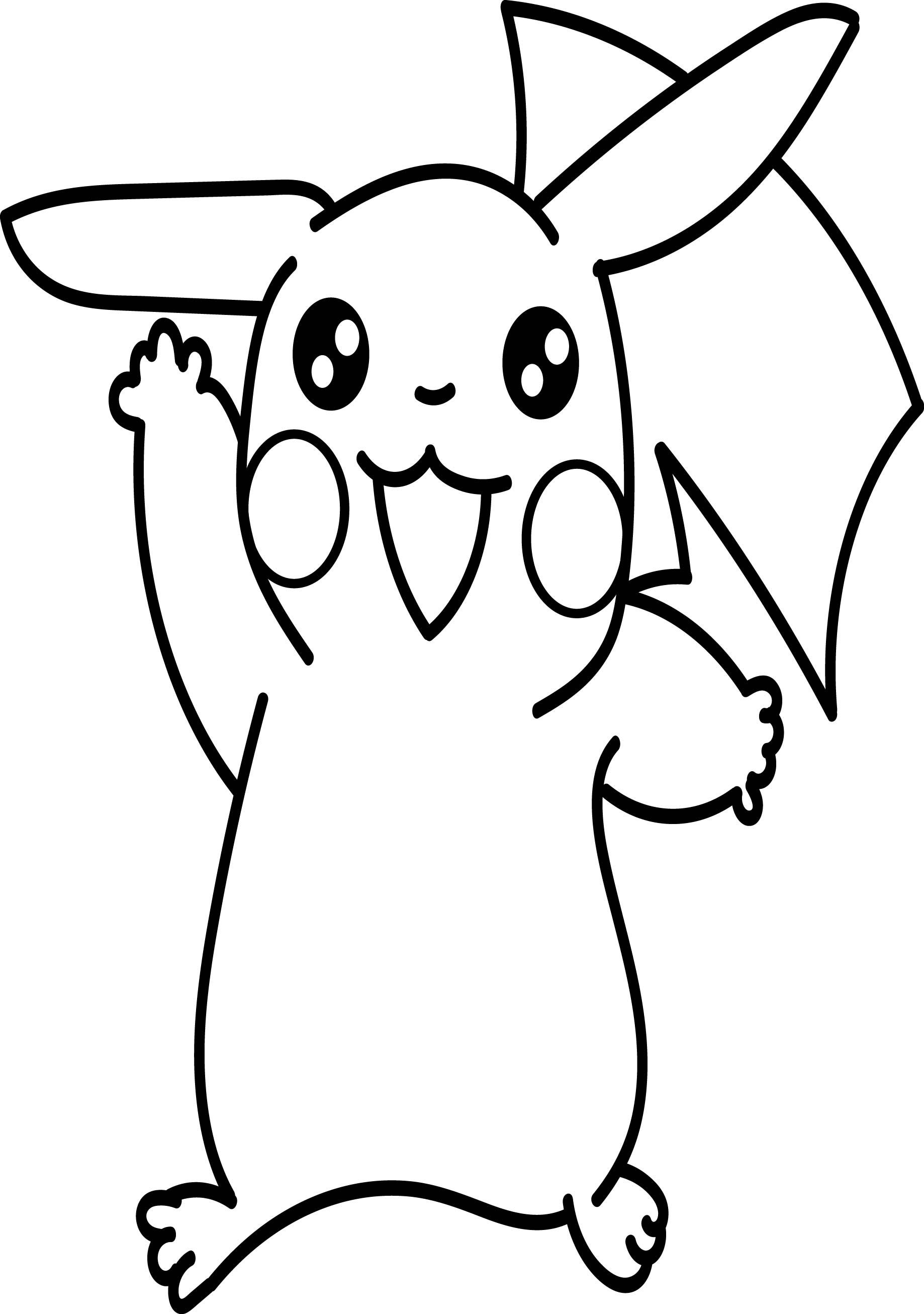 Anime pikachu coloring page for Pikachu coloring page