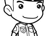 Anime Policeman Coloring Page