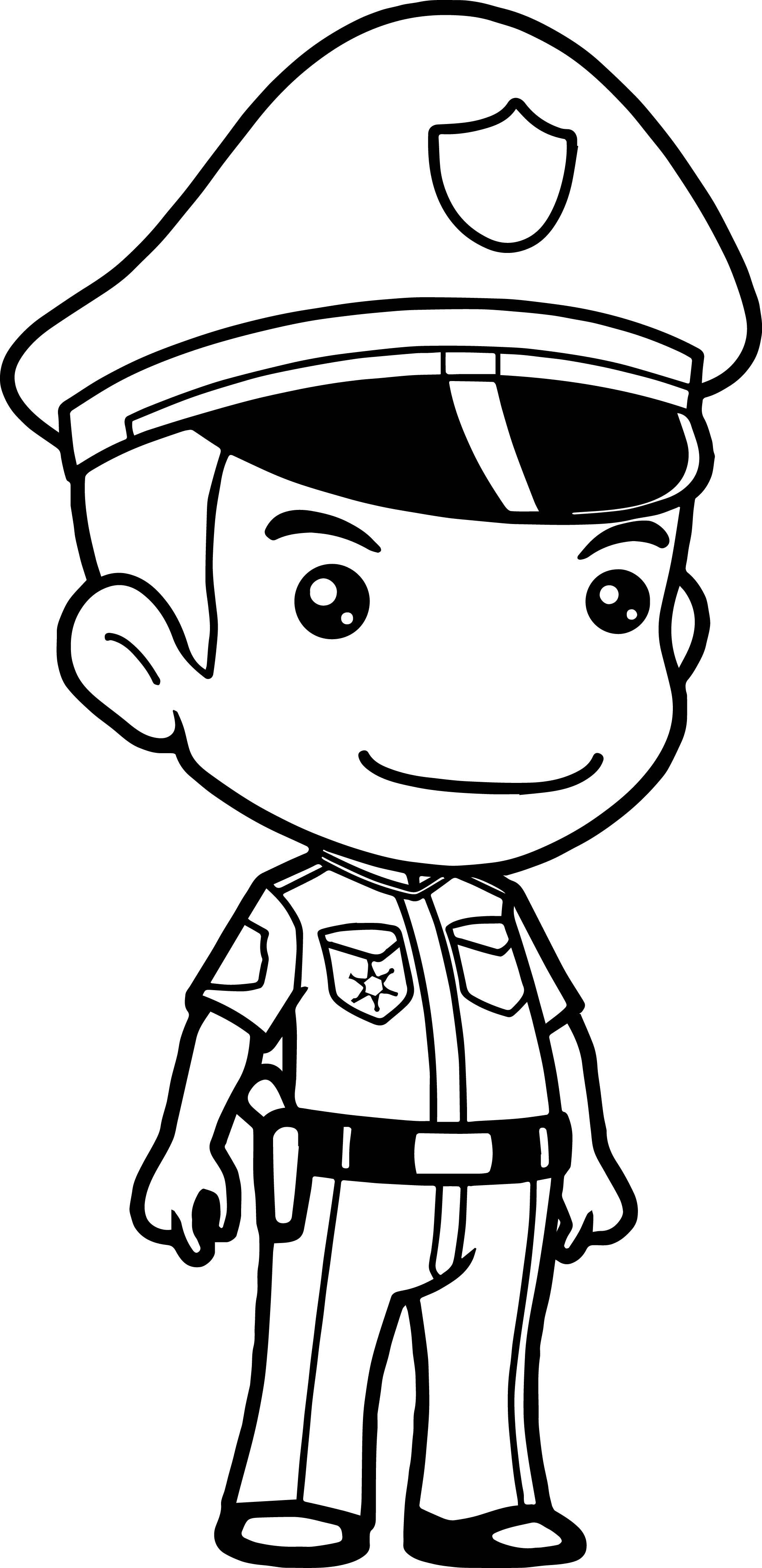Anime policeman coloring page for Police officer coloring page