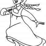 Anne Of Green Gables Running Coloring Page