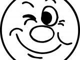 April Fool Cute Face Circle Coloring Page