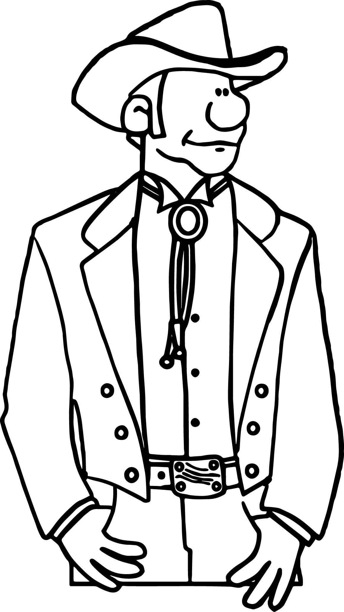 Arizona Bolo Man Coloring Page
