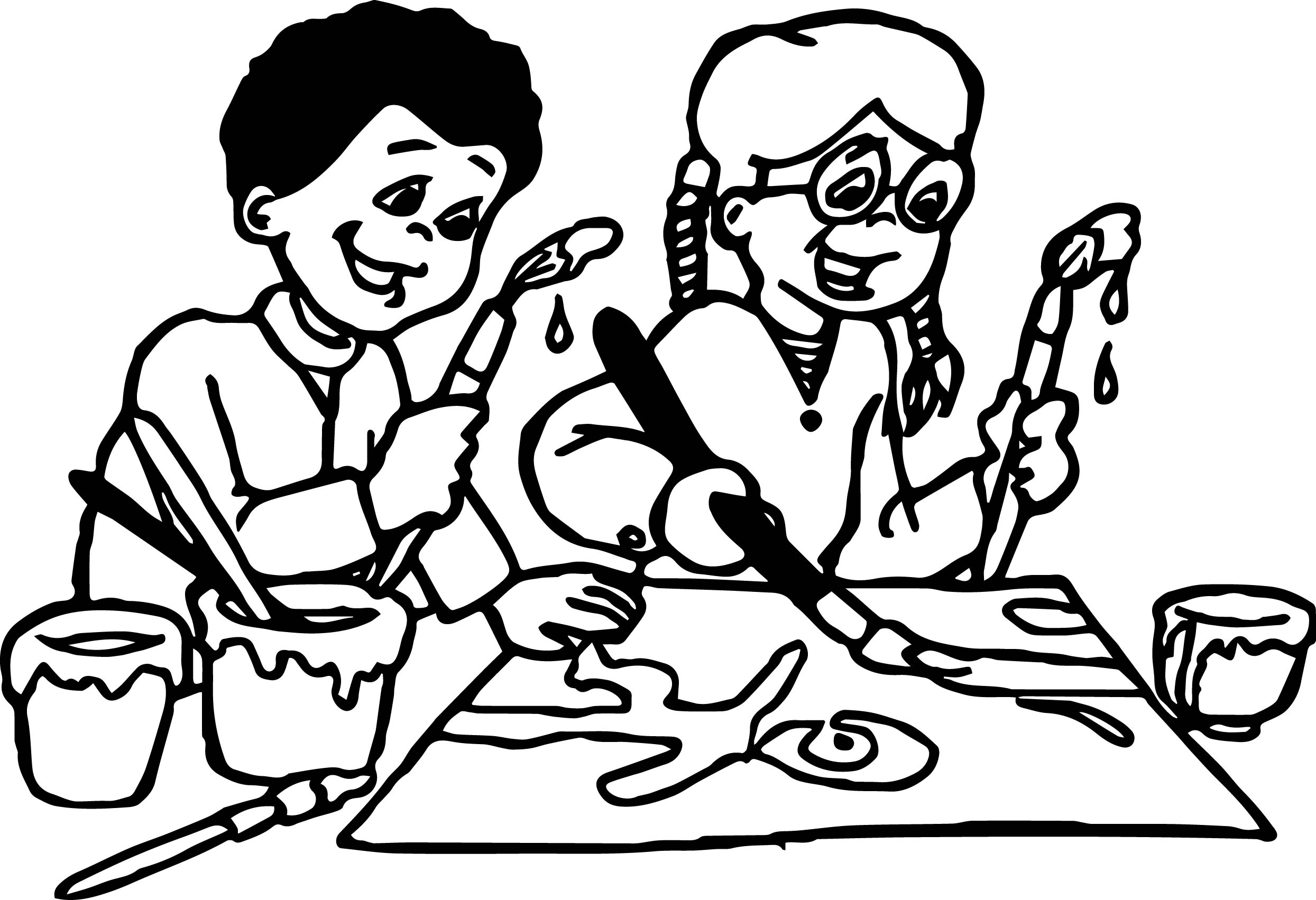 Art And Crafts Kids Coloring Page