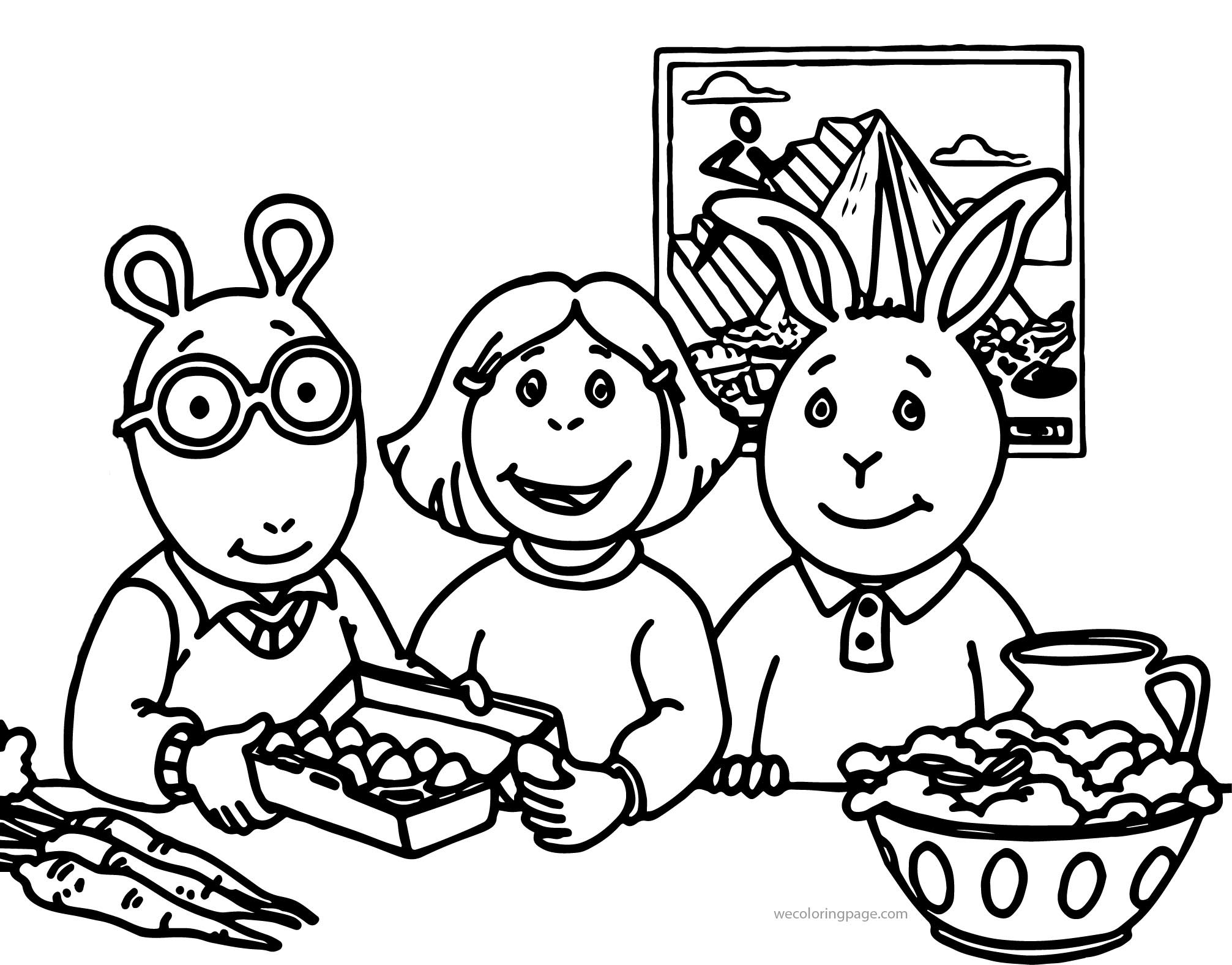Arthur Pbs Kids Coloring Page