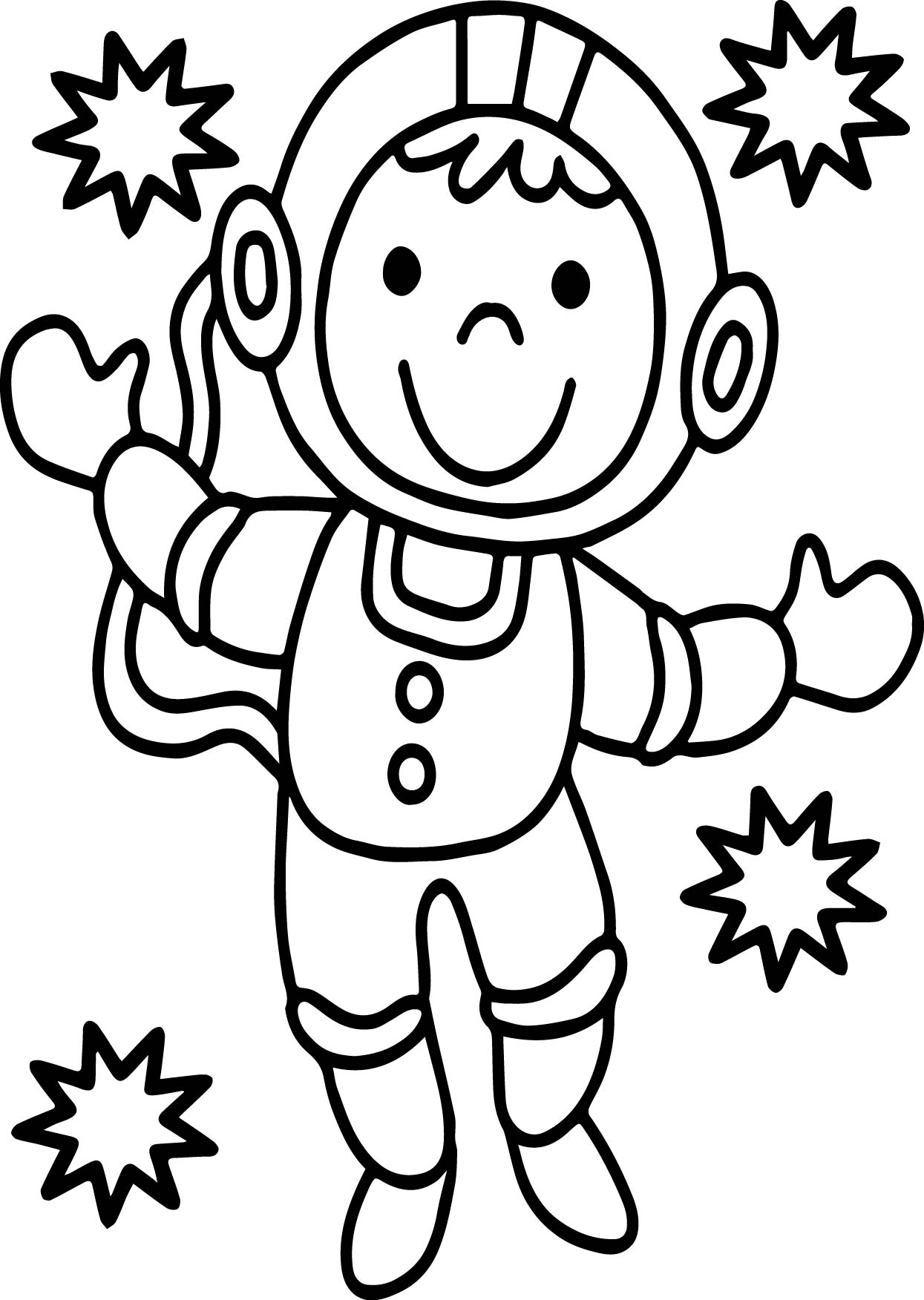 Astronaut Monkey Coloring Page