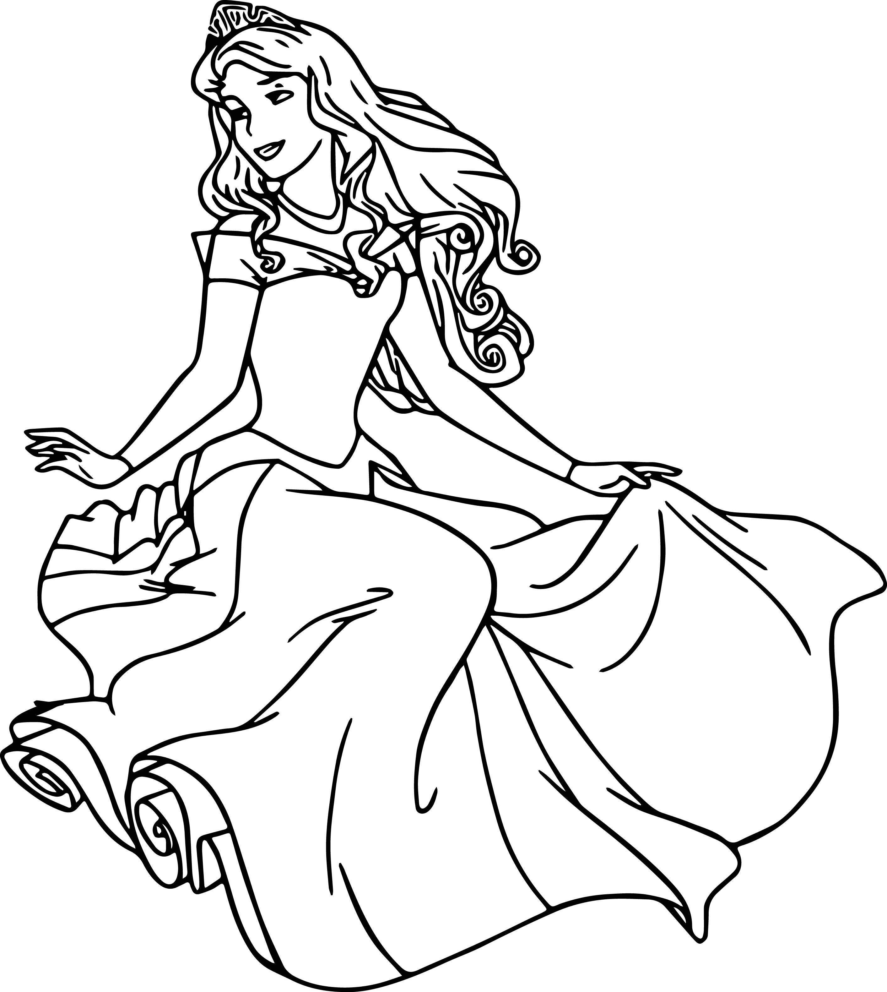 Aurora Staying Coloring Page