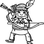 Australia Arrow Man Coloring Page