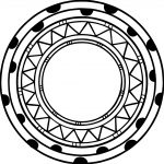 Aztec Circle Shape Coloring Page