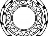 Aztec Circle Shape Coloring Page