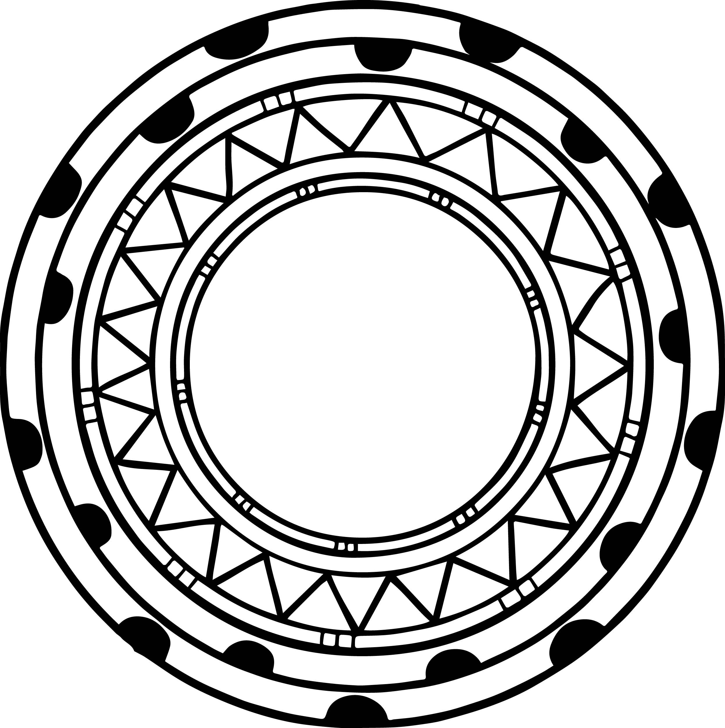 aztec circle shape coloring page wecoloringpage