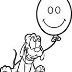Baby Pluto Balloon Coloring Page