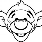 Baby Tigger Face Coloring Page