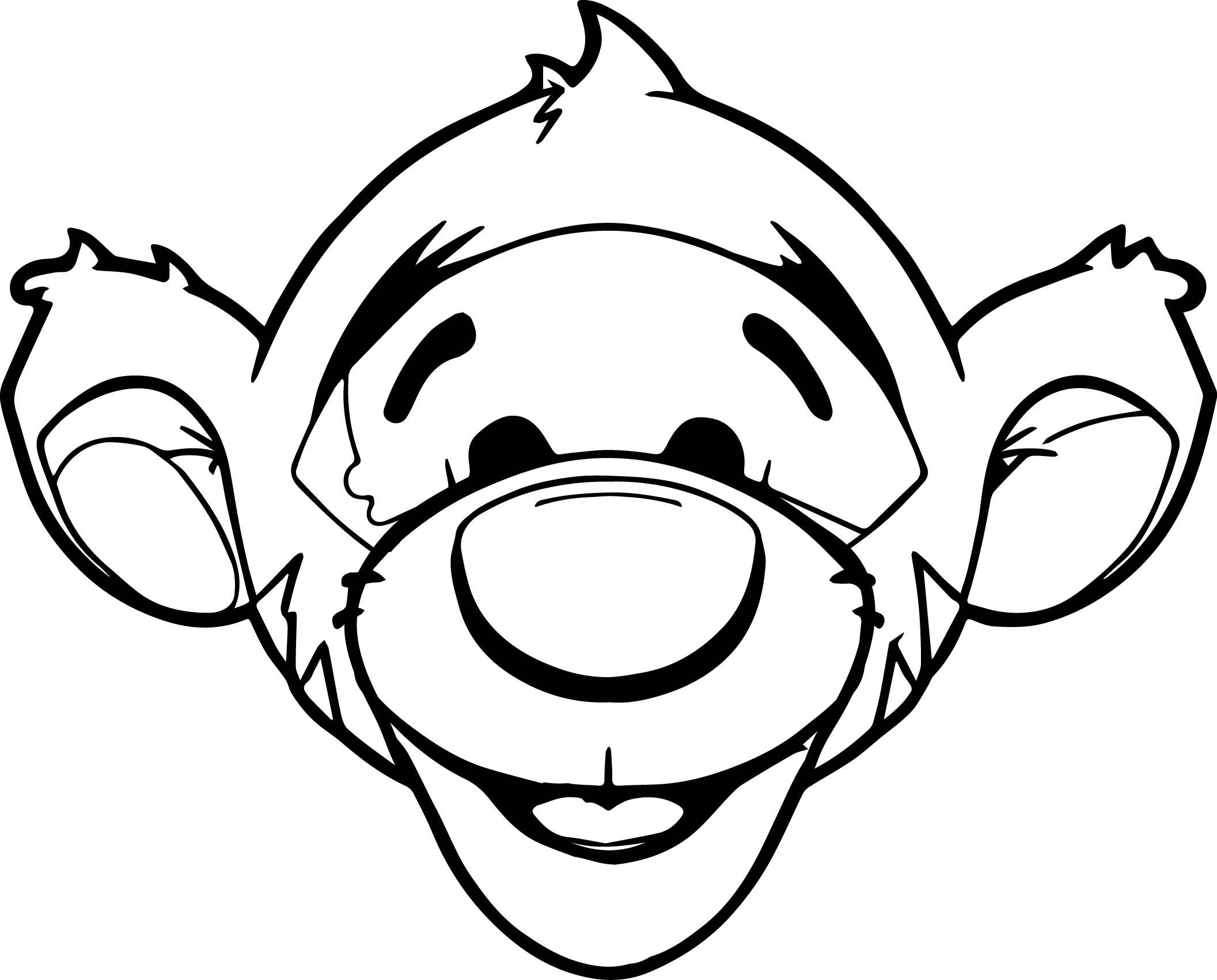 baby tigger face coloring page wecoloringpage
