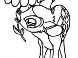 Bambi Big Flower Coloring Pages