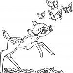 Bambi Butterflies Catch Coloring Pages