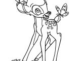 Bambi Butterflies Coloring Pages