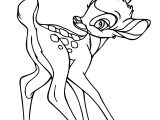 Bambi Butterfly Behind Coloring Pages