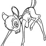 Bambi Careful Coloring Pages