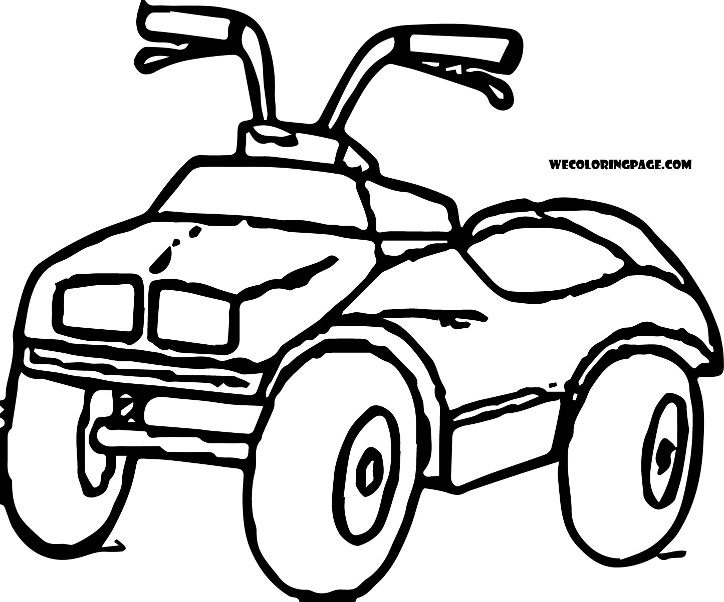 basic 4 wheeler coloring page