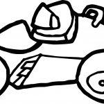 Basic Formula Car Coloring Page