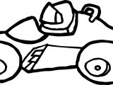 Basic Formula Car Coloring Page