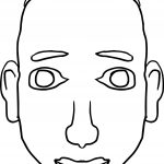 Basic Man Face Coloring Page