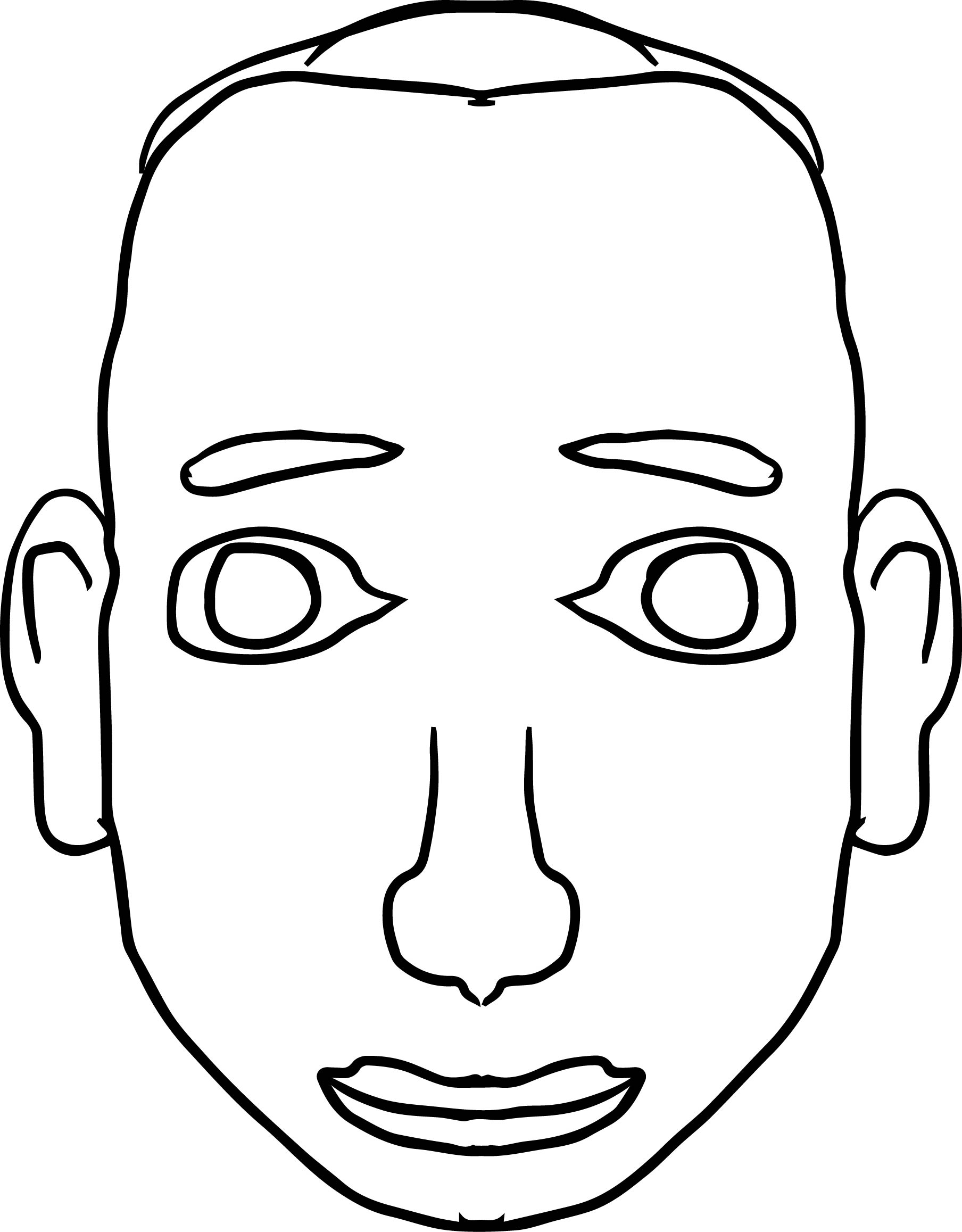 man face coloring pages - photo#13